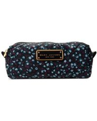 Marc Jacobs Floral Quilted Cosmetic Pouch - Blue