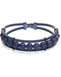 Alor Men's Lapis & Blue Stainless Steel Bracelet