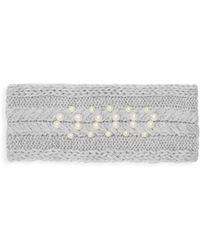 Badgley Mischka - Faux Pearl-embellished Headband - Lyst