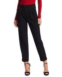 Michael Kors Virgin Wool Tapered Pants - Black