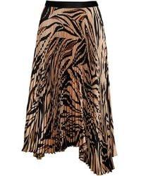 Bailey 44 Women's Logan Tiger-print Asymmetric Pleated Midi Skirt - Camel Multi - Size Xs - Multicolour