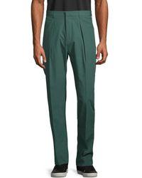 BOSS by Hugo Boss Men's Pleated Trousers - Dark Green - Size 32 R