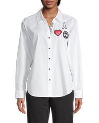 Karl Lagerfeld Logo Patch Shirt - White