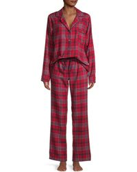 UGG Raven Plaid 2-piece Pyjama Set - Red