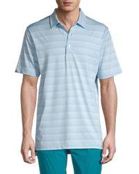 Dunning Laggan Jersey Golf Polo - Blue