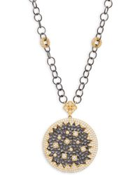 Freida Rothman - Hammered Coin Pendant Necklace - Lyst