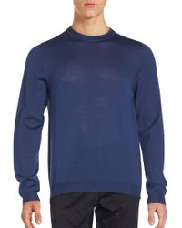 Porsche Design - Merino Wool Crewneck Sweater - Lyst