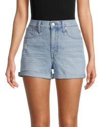 Madewell High-waist Distressed Denim Shorts - Blue
