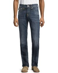 True Religion - Rocco Faded Flap Pocket Jeans - Lyst