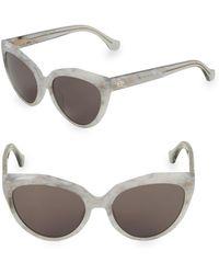 Balenciaga - Marble 56mm Cateye Sunglasses - Lyst