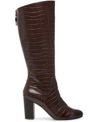 Anne Klein Nastya Textured Tall Boots - Brown