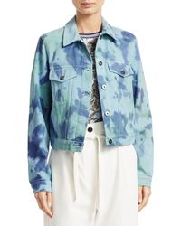 3.1 Phillip Lim Tie-dye Denim Jacket - Blue
