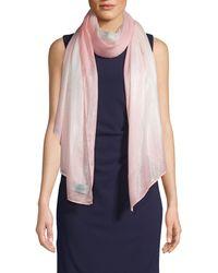 Calvin Klein Textured Wraparound Scarf - Pink