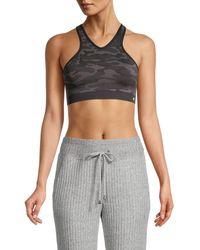 Splendid Knit Camo Sports Bra - Black