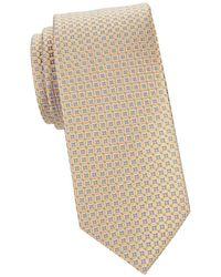Eton Men's Geometric Silk Tie - Yellow