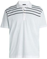 ATM Stripe Jersey Polo - White