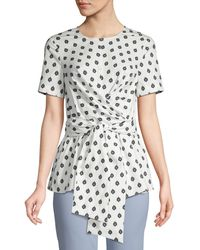 Diane von Furstenberg Printed Short-sleeve Top - Multicolour