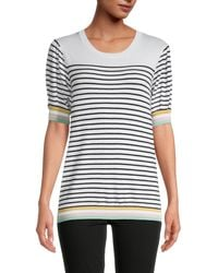 Joseph A Elbow-sleeve Striped Jumper - Multicolour