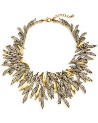 Saks Fifth Avenue - Crystal Leaf Statement Necklace - Lyst