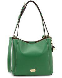 Frances Valentine Small June Leather Hobo Bag - Green