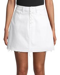 PAIGE Aideen Exposed Button Skirt - White