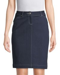 Robert Graham Jordan Slim Skirt - Blue