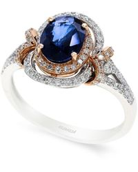 Effy 14k White And Rose Gold Sapphire And Diamond Ring - Multicolor