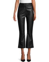 Lea & Viola Faux Leather Trousers - Black