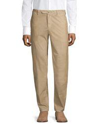 PT01 Men's Slim-fit Flat Front Baby Wale Corduroy Trousers - Light Beige - Size 52 (36) - Natural