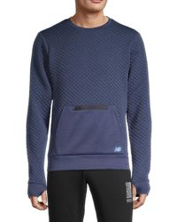 New Balance Men's Diamond-quilted Sweatshirt - Black - Size Xxl