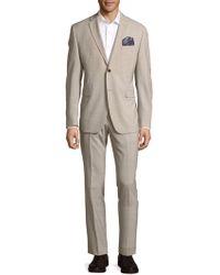 Original Penguin - Check Classic-fit Wool Blend Suit - Lyst