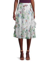 Ted Baker Lurissa Floral-printed Skirt - White