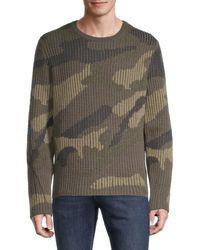 Valentino Men's Camo Virgin Wool & Cashmere Jumper - Army - Size S - Multicolour