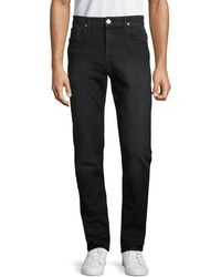 Hudson Jeans Sartor Relaxed Skinny Jeans - Black