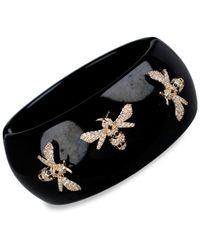 CZ by Kenneth Jay Lane - Women's 14k Goldplated & Crystal Bee Bangle Bracelet - Lyst