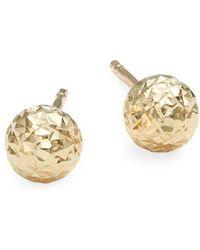 Saks Fifth Avenue - 14k Yellow Gold Ball Stud Earrings - Lyst