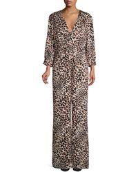 BCBGMAXAZRIA Leopard-print Jumpsuit - Multicolour