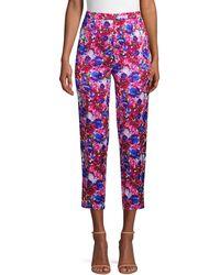 ESCADA Talarentex Floral-print Ankle Pants - Pink