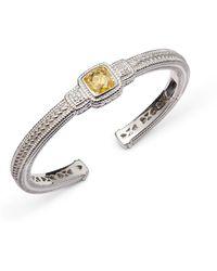 Judith Ripka - White Sapphire & Yellow Cubic Zirconia Cuff Bracelet - Lyst