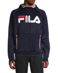 Fila Ezra Tech Logo Hoodie - Black