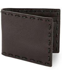 John Varvatos Leather Continental Wallet - Brown