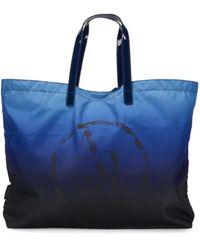 Armani Jeans Logo Ombre Tote Bag - Blue