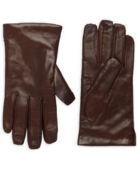 Portolano Wool-lined Leather Gloves - Multicolour