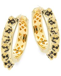 Eddie Borgo - Yellow Gold Hinged Earrings - Lyst