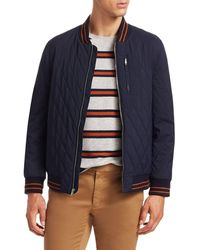 Saks Fifth Avenue Modern Quilted Bomber Jacket - Blue