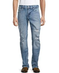 True Religion Men's Geno Destroyed Relaxed Slim-fit Jeans - Blue - Size 32