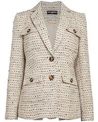 Karl Lagerfeld Tweed Wool-blend Blazer - Multicolour