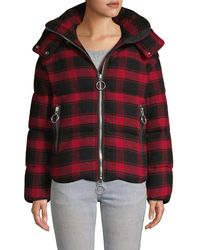 The Very Warm Plaid Wool-blend Jacket - Red