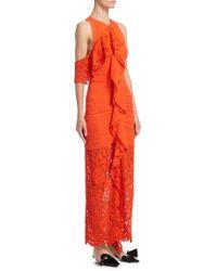 Proenza Schouler - Ruffle Lace Dress - Lyst