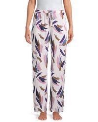 Hanro Paintstroke Print Pyjama Pants - Pink